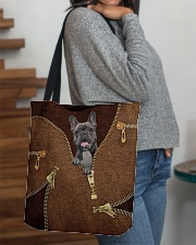French Bulldog All-over Tote aos-all-over-tote-lifestyle-front-09