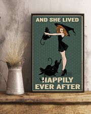 Black cat girl poster 11x17 Poster lifestyle-poster-3