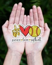 Peace Love softball Sticker - Single (Horizontal) aos-sticker-single-horizontal-lifestyle-front-20