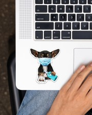 Chihuahua Wash Hands Sticker - Single (Vertical) aos-sticker-single-vertical-lifestyle-front-11