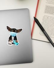 Chihuahua Wash Hands Sticker - Single (Vertical) aos-sticker-single-vertical-lifestyle-front-18