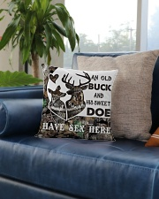 An old buck and his sweet doe Square Pillowcase aos-pillow-square-front-lifestyle-02