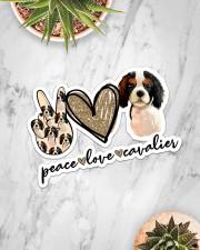 Peace Love Cavalier Sticker - Single (Horizontal) aos-sticker-single-horizontal-lifestyle-front-06