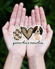 Peace Love Cavalier Sticker - Single (Horizontal) aos-sticker-single-horizontal-lifestyle-front-20