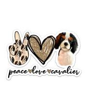 Peace Love Cavalier Sticker - Single (Horizontal) front