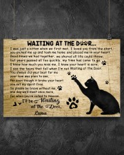 Black cat waitting at the door 24x16 Poster aos-poster-landscape-24x16-lifestyle-13