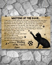 Black cat waitting at the door 24x16 Poster aos-poster-landscape-24x16-lifestyle-14
