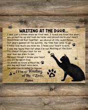 Black cat waitting at the door 24x16 Poster aos-poster-landscape-24x16-lifestyle-15