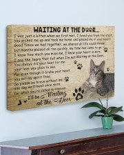 Cat Waiting At The Door  30x20 Gallery Wrapped Canvas Prints aos-canvas-pgw-30x20-lifestyle-front-01
