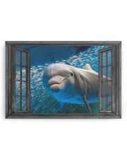Dolphin 3D 30x20 Gallery Wrapped Canvas Prints aos-canvas-pgw-30x20-ghosted-front-02