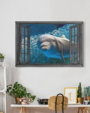 Dolphin 3D 30x20 Gallery Wrapped Canvas Prints aos-canvas-pgw-30x20-lifestyle-front-03
