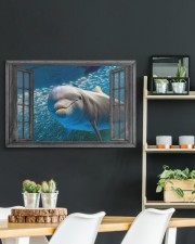 Dolphin 3D 30x20 Gallery Wrapped Canvas Prints aos-canvas-pgw-30x20-lifestyle-front-04