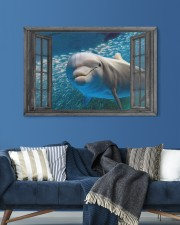 Dolphin 3D 30x20 Gallery Wrapped Canvas Prints aos-canvas-pgw-30x20-lifestyle-front-06