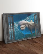 Dolphin 3D 30x20 Gallery Wrapped Canvas Prints aos-canvas-pgw-30x20-lifestyle-front-17