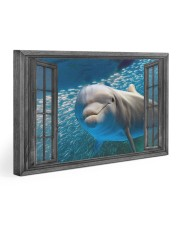Dolphin 3D 30x20 Gallery Wrapped Canvas Prints front