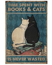 Time Spent With Books And Cats 11x17 Poster front