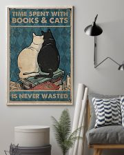 Time Spent With Books And Cats 11x17 Poster lifestyle-poster-1