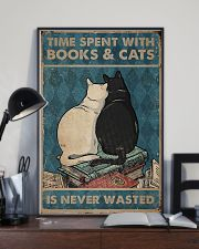 Time Spent With Books And Cats 11x17 Poster lifestyle-poster-2