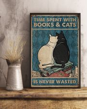 Time Spent With Books And Cats 11x17 Poster lifestyle-poster-3