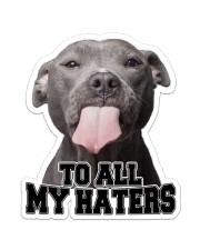 To All My Haters Sticker - Single (Vertical) front