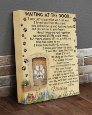 Personalized Dog Waiting At The Door 11x14 Gallery Wrapped Canvas Prints aos-canvas-pgw-11x14-lifestyle-front-10