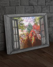 Farm chicken 20x16 Gallery Wrapped Canvas Prints aos-canvas-pgw-20x16-lifestyle-front-11