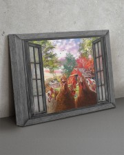 Farm chicken 20x16 Gallery Wrapped Canvas Prints aos-canvas-pgw-20x16-lifestyle-front-15