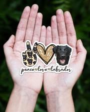 peace love labrador black Sticker - Single (Horizontal) aos-sticker-single-horizontal-lifestyle-front-20