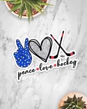 Peace Love Hockey Sticker - Single (Horizontal) aos-sticker-single-horizontal-lifestyle-front-06