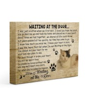 Calie will be waiting At The Door 14x11 Gallery Wrapped Canvas Prints front