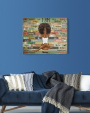 I am black 20x16 Gallery Wrapped Canvas Prints aos-canvas-pgw-20x16-lifestyle-front-06