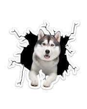 Siberian Huskies Crack Sticker - Single (Vertical) front