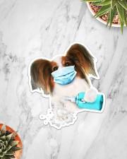 Papillon wash hands Sticker - Single (Vertical) aos-sticker-single-vertical-lifestyle-front-06