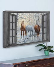 Snow Horse  30x20 Gallery Wrapped Canvas Prints aos-canvas-pgw-30x20-lifestyle-front-01