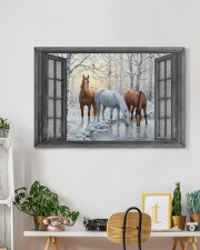 Snow Horse  30x20 Gallery Wrapped Canvas Prints aos-canvas-pgw-30x20-lifestyle-front-03