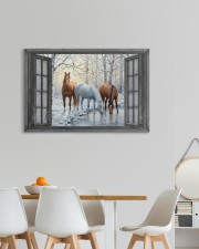 Snow Horse  30x20 Gallery Wrapped Canvas Prints aos-canvas-pgw-30x20-lifestyle-front-05