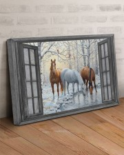 Snow Horse  30x20 Gallery Wrapped Canvas Prints aos-canvas-pgw-30x20-lifestyle-front-07