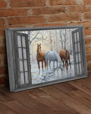 Snow Horse  30x20 Gallery Wrapped Canvas Prints aos-canvas-pgw-30x20-lifestyle-front-09