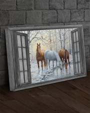Snow Horse  30x20 Gallery Wrapped Canvas Prints aos-canvas-pgw-30x20-lifestyle-front-11