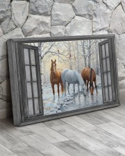 Snow Horse  30x20 Gallery Wrapped Canvas Prints aos-canvas-pgw-30x20-lifestyle-front-13
