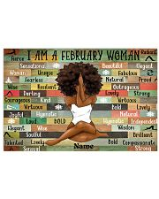 February woman 24x16 Poster front