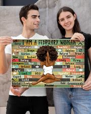 February woman 24x16 Poster poster-landscape-24x16-lifestyle-21