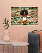 February woman 24x16 Poster poster-landscape-24x16-lifestyle-22