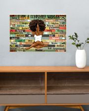 February woman 24x16 Poster poster-landscape-24x16-lifestyle-25