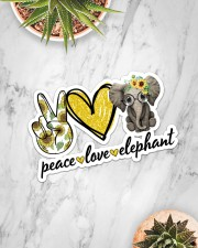 Peace Love Elephant Sticker - Single (Horizontal) aos-sticker-single-horizontal-lifestyle-front-06