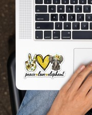 Peace Love Elephant Sticker - Single (Horizontal) aos-sticker-single-horizontal-lifestyle-front-11