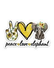 Peace Love Elephant Sticker - Single (Horizontal) front