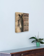 I'm your friend and your horse 11x14 Gallery Wrapped Canvas Prints aos-canvas-pgw-11x14-lifestyle-front-01