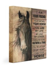 I'm your friend and your horse 11x14 Gallery Wrapped Canvas Prints front