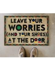 """Leave your worries Doormat 22.5"""" x 15""""  aos-doormat-22-5x15-lifestyle-front-04"""